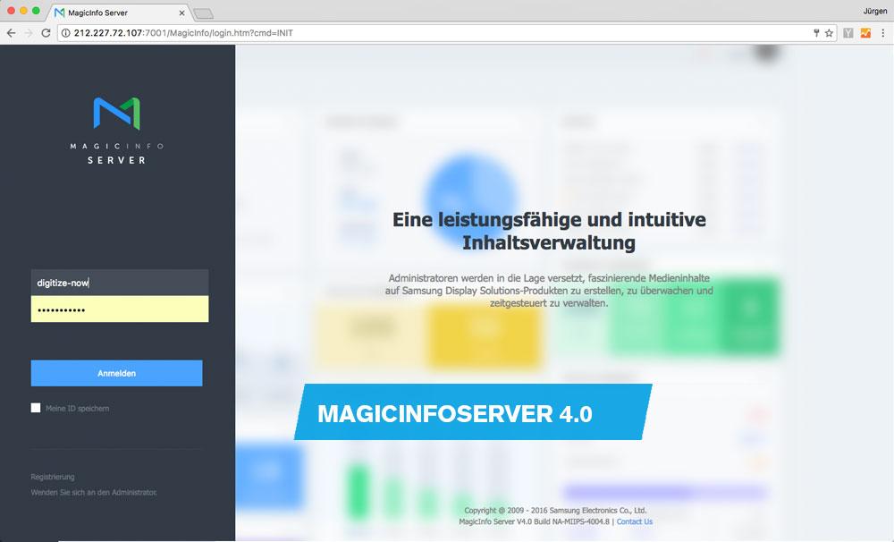 Digitize now - Release MagicInfo Server Version 4 0