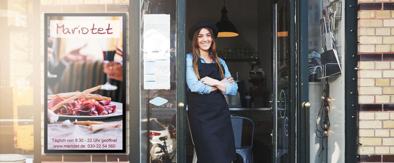 Digital Signage Gastronomie outdoor