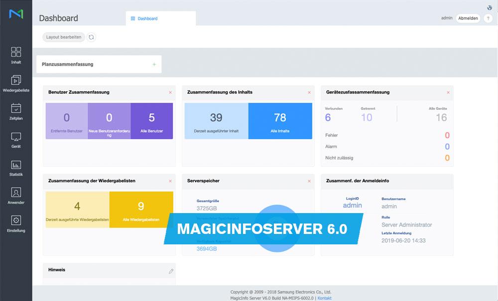 Digitize now - Release MagicInfo Server Version 6 0